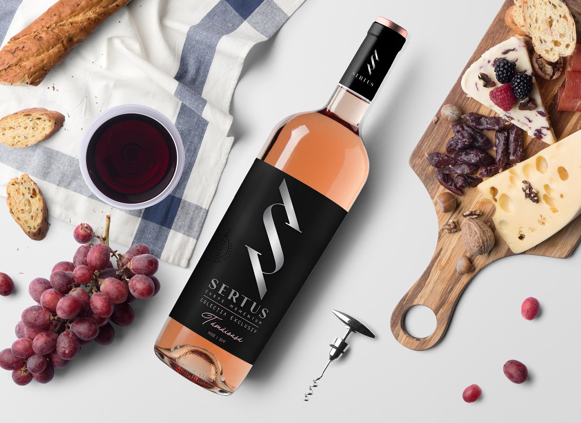 Sertus wine products branding inoveo