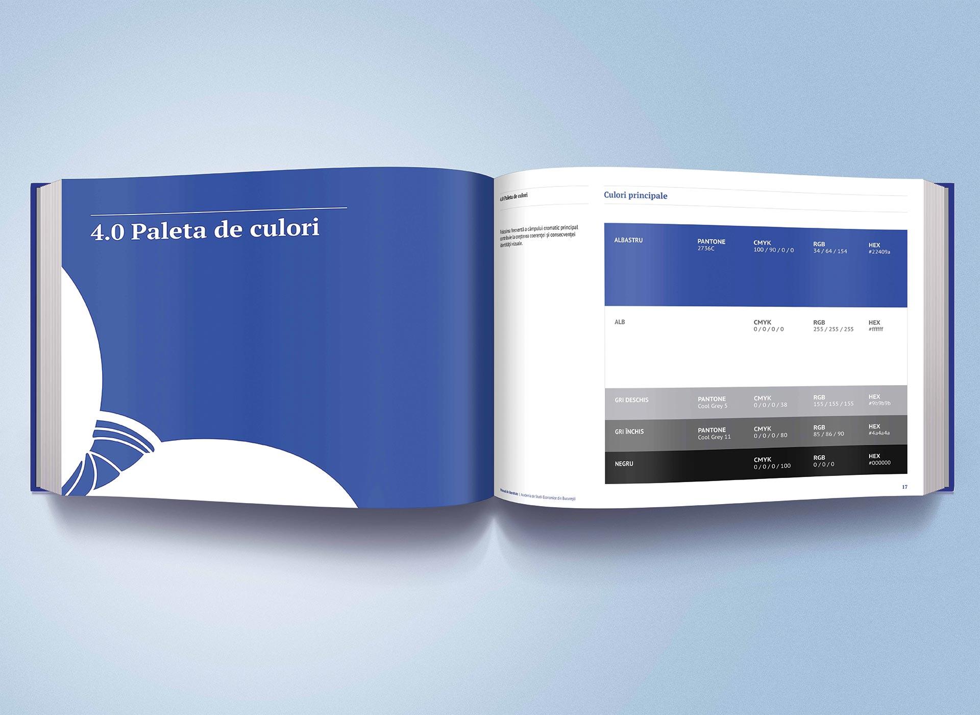 Academia de Studii Economie din Bucuresti portfolio inoveo brand book