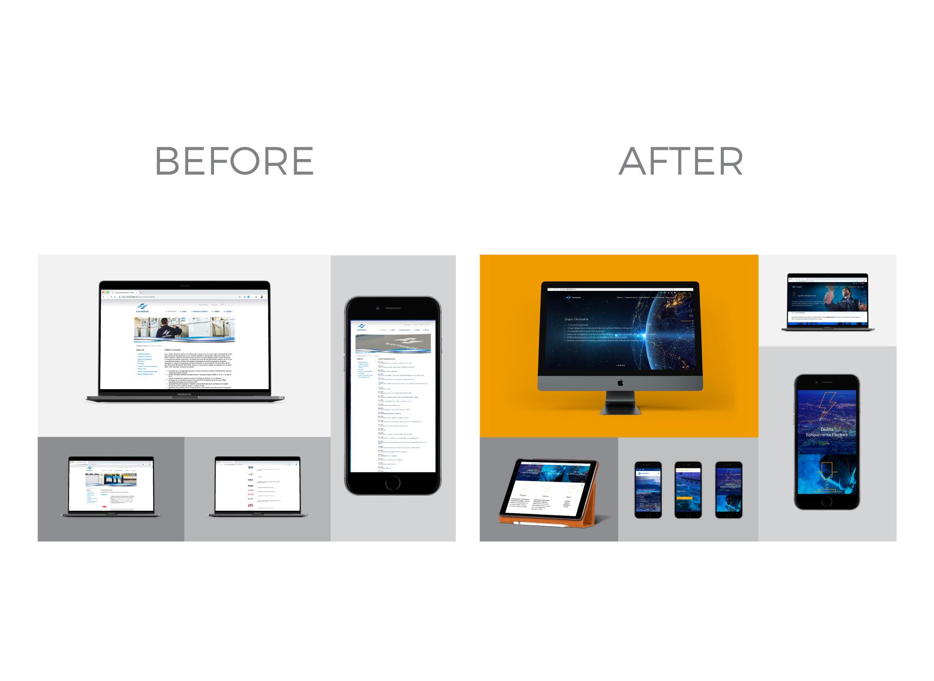 electroalfa portofoliu inoveo website iPad Pro