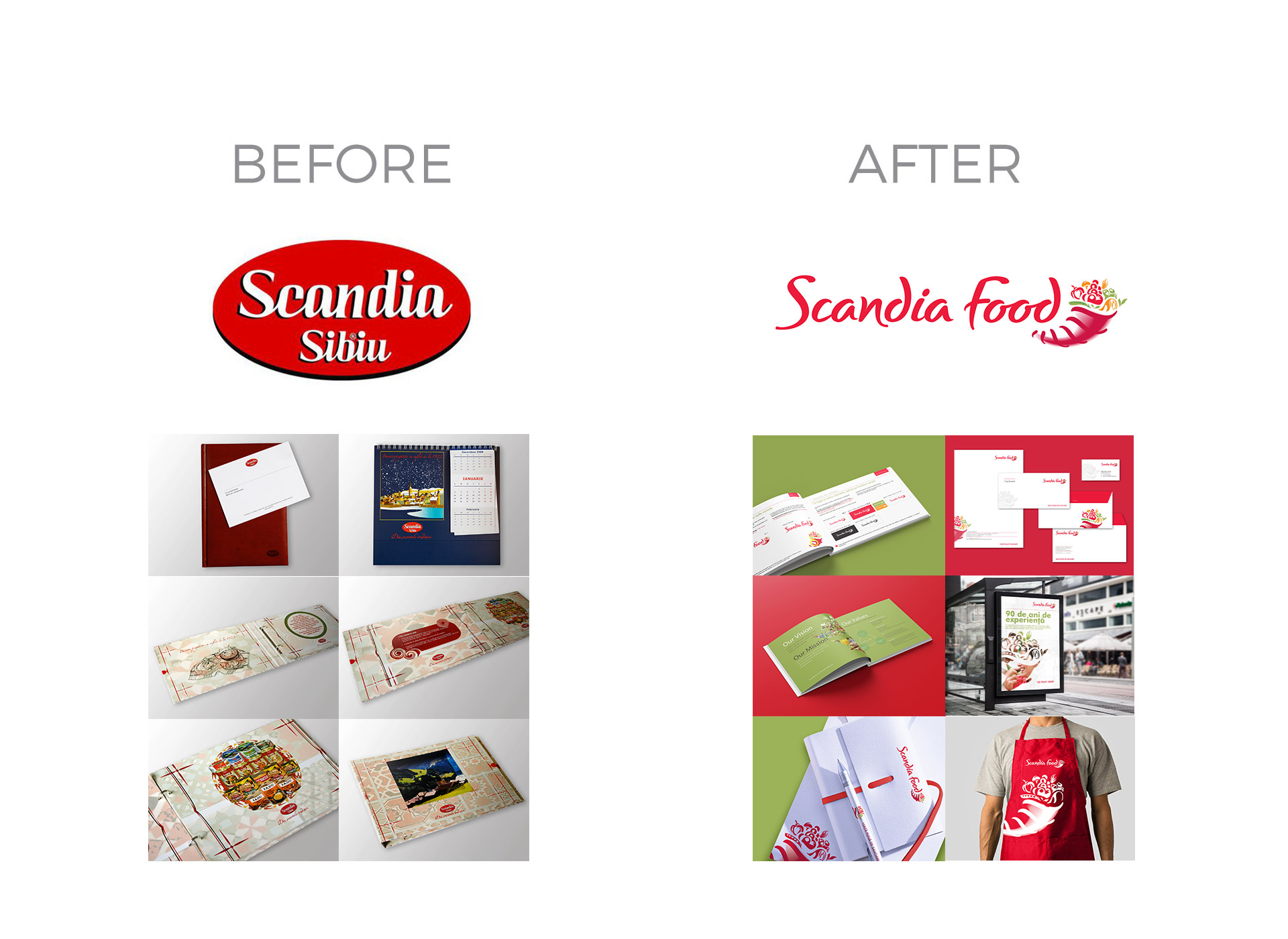 scandia food rebranding before and after