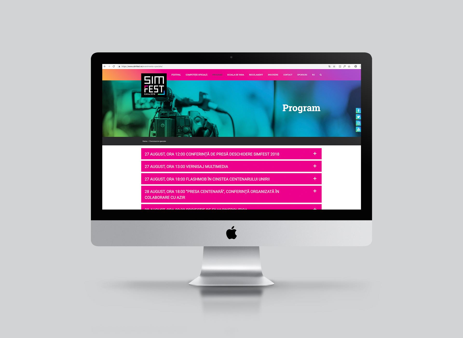 Simfest Portfolio Inoveo website