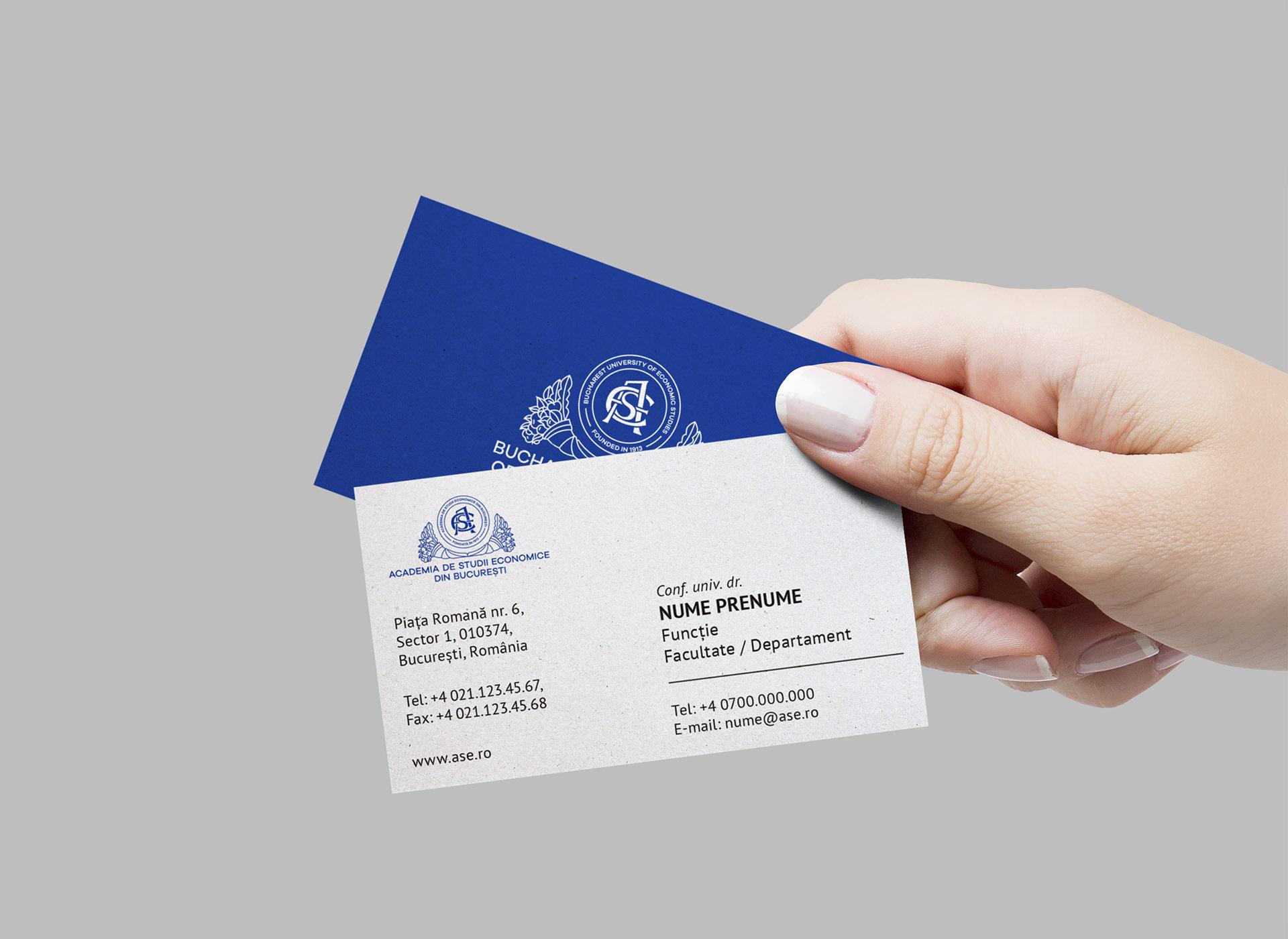Academia de Studii Economie din Bucuresti portfolio inoveo business card