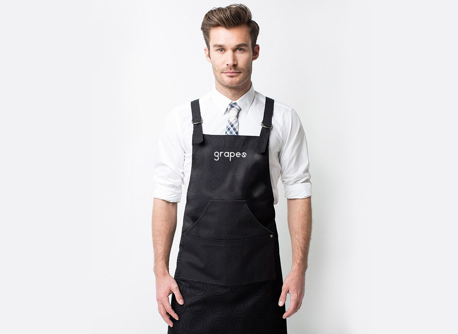 Grapes wine bar portfolio inoveo apron