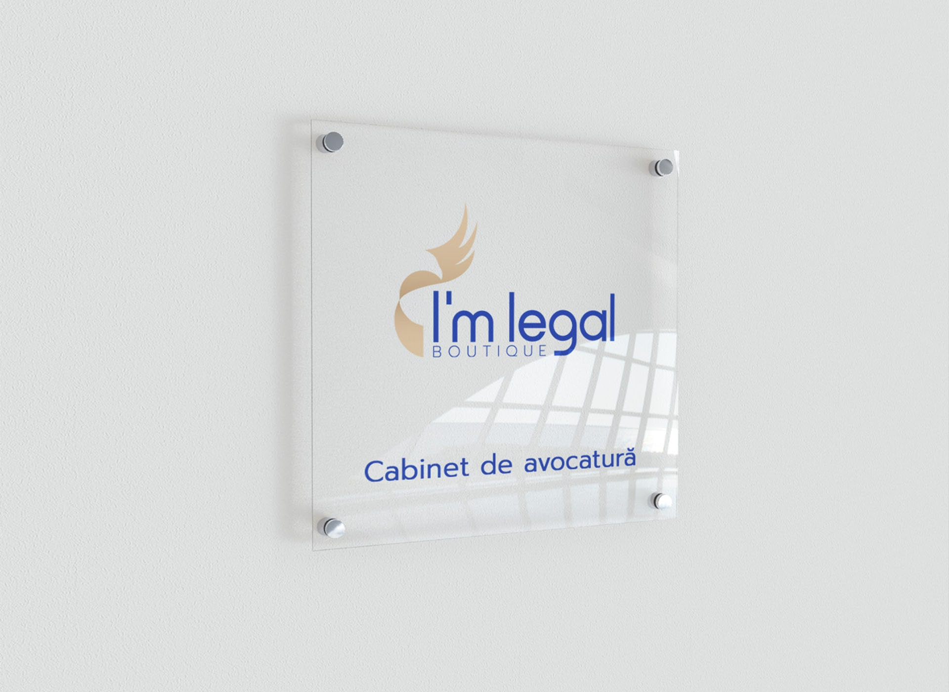 I'm legal portofoliu inoveo plaque