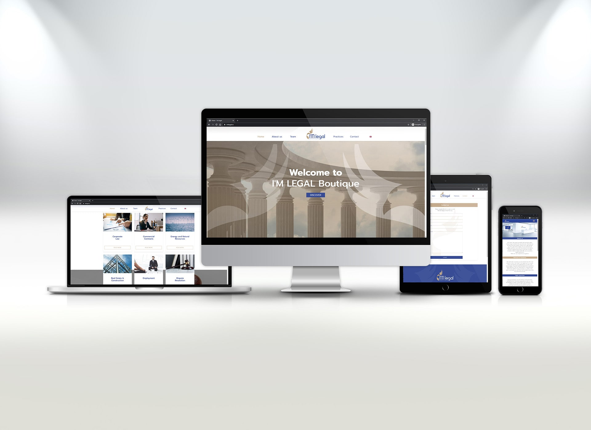 I'm legal portofoliu inoveo website responsive design