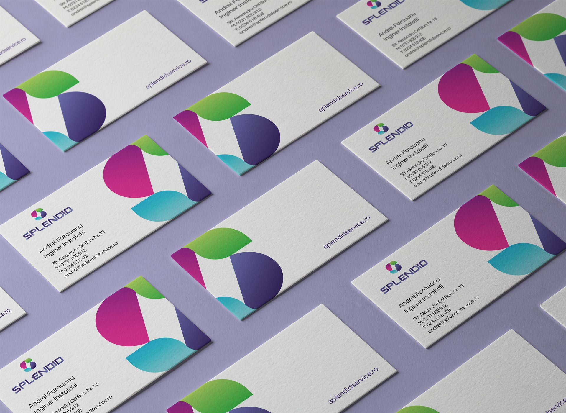 Splendid portofoliu inoveo logo business card