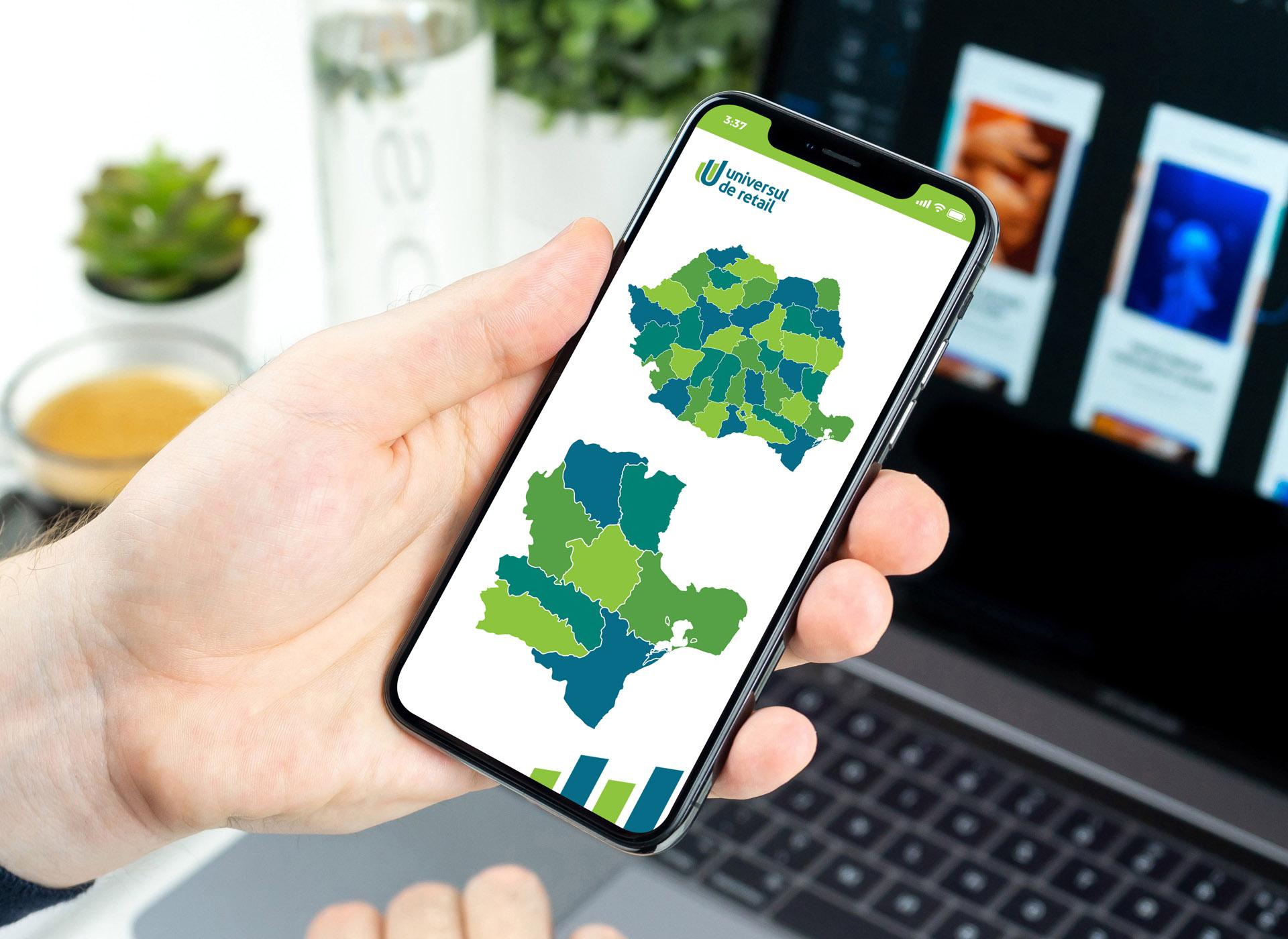 universul de retail portofoliu inoveo mobile app map