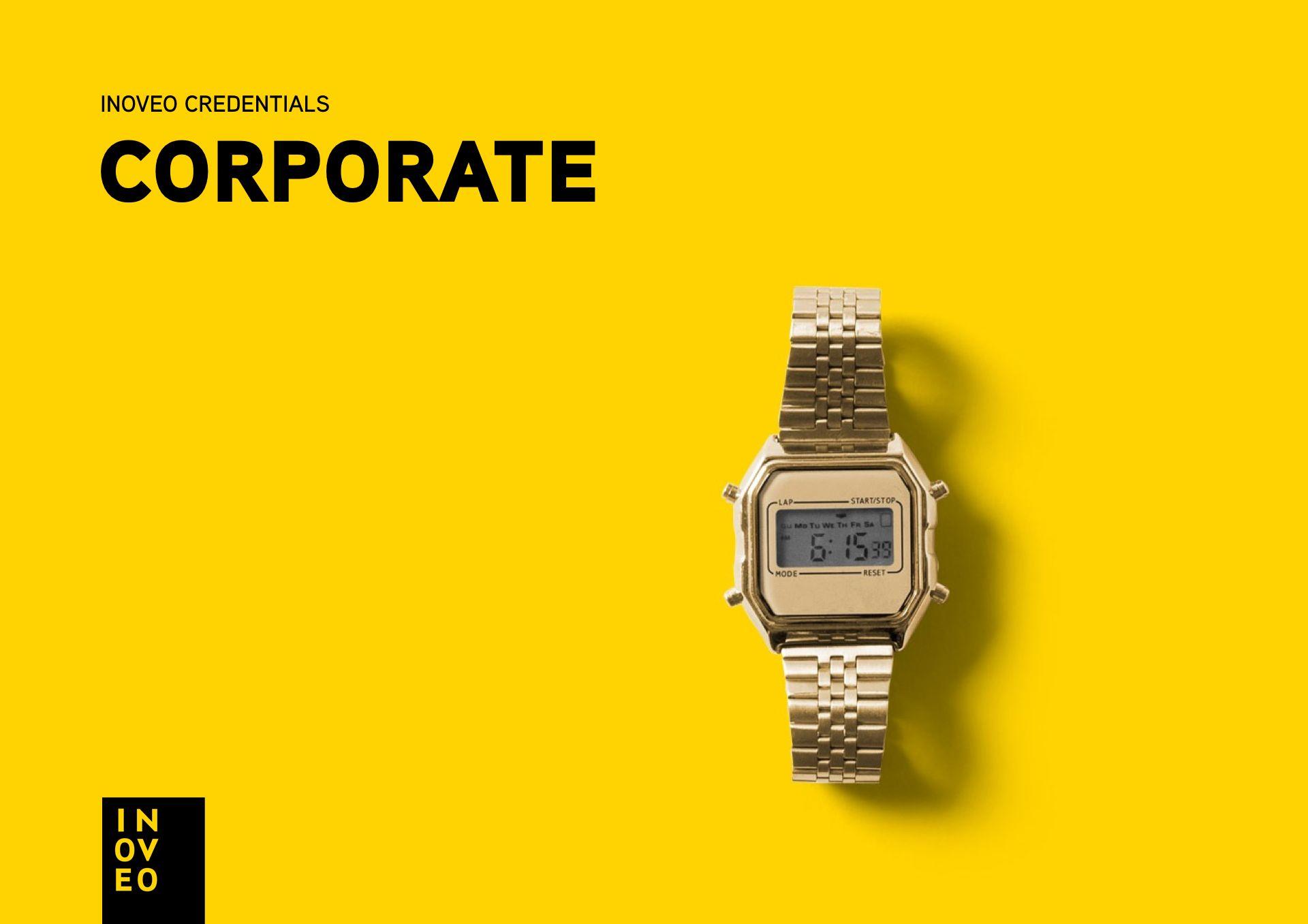 corporate credentials INOVEO branding