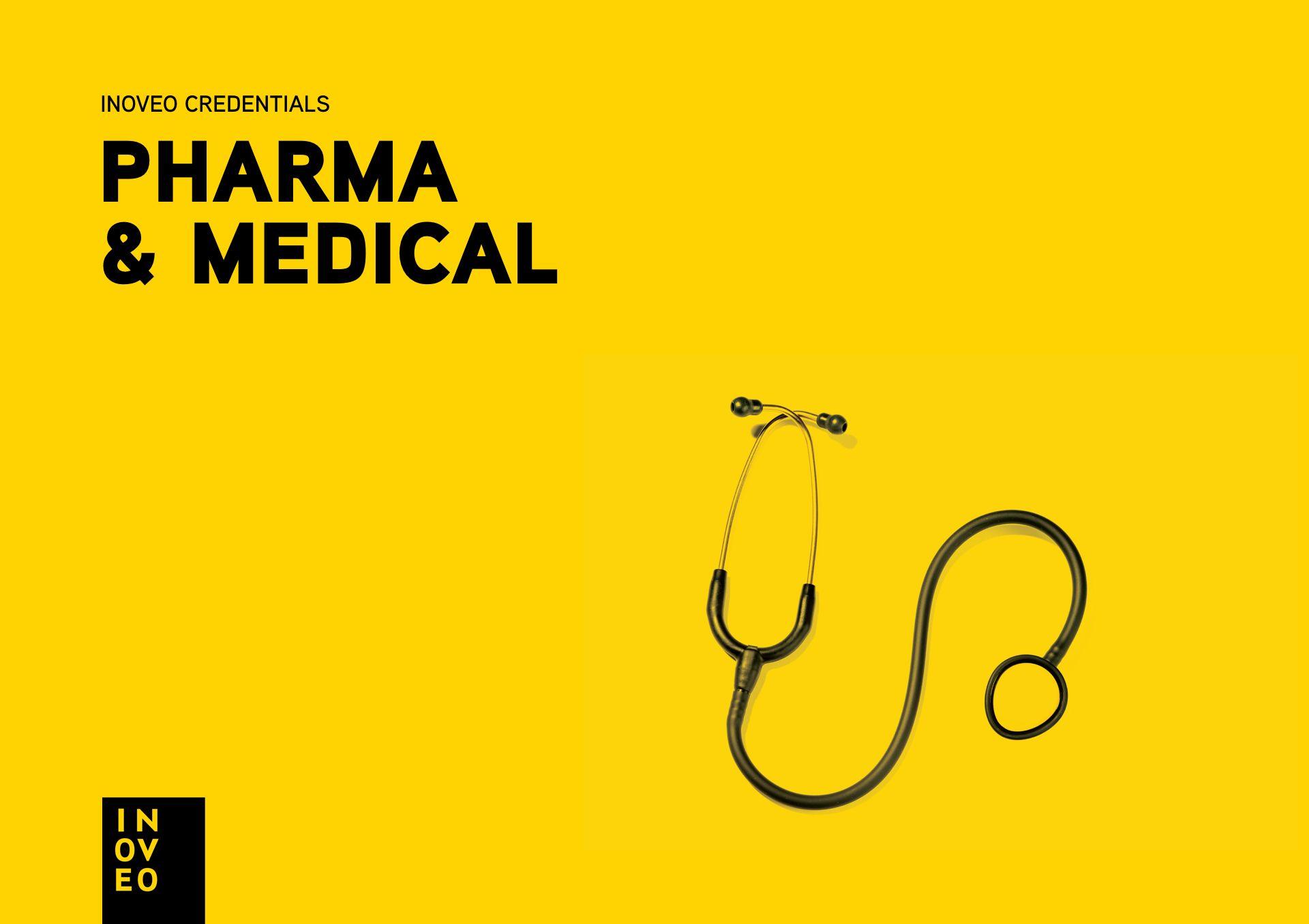 pharma & medical credentials INOVEO branding