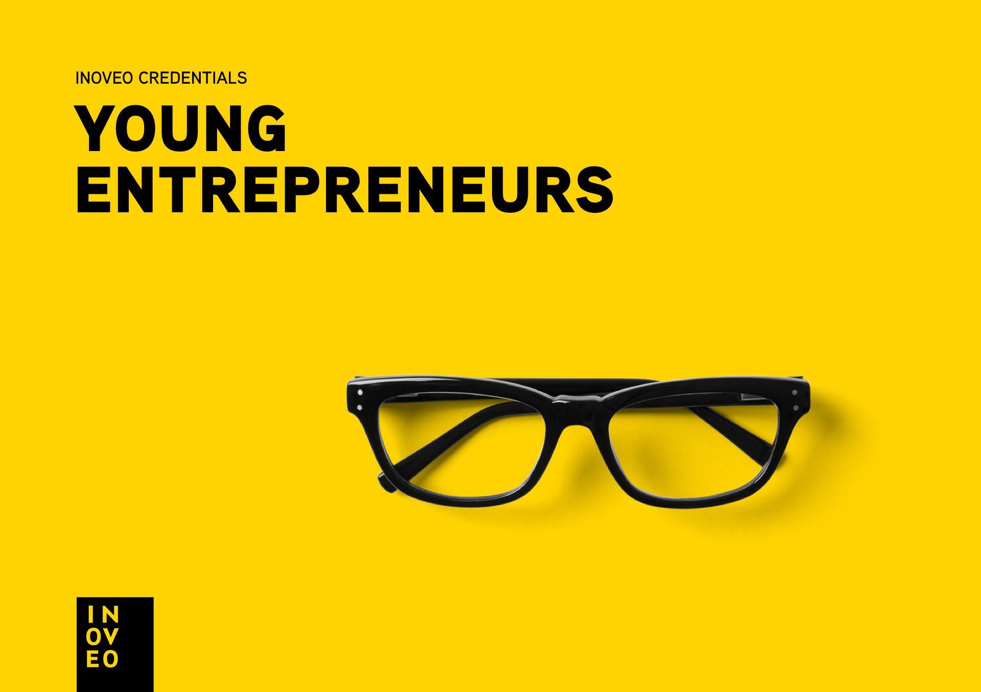 Young Entrepreneurs credentials INOVEO branding